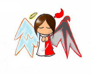 300x245 Devlil And Angel Clipart Amp Devlil And Angel Clip Art Images