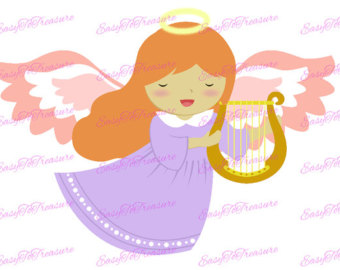 340x270 Girl Clipart Girl Angel Clipart Hand Drawn Instant Download