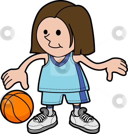 Girl Basketball Clipart