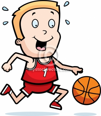 348x400 Boy Playing Basketball Clipart