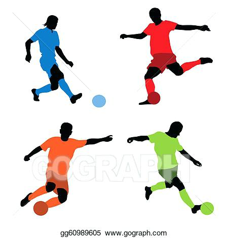 450x470 Clip Art Soccer Player Four Soccer Players Silhouettes Free Girl