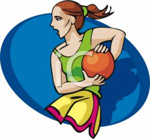 300x277 Clipart Picture Of A Girl Playing Basketball