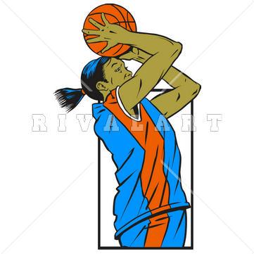 361x361 Fancy Design Girls Basketball Clipart
