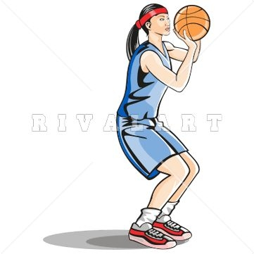 361x361 Girl Holding Basketball Clipart