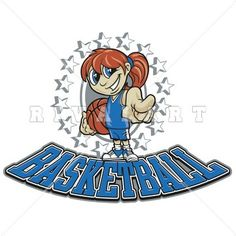 236x236 Sports Clipart Image Of Black White Girls Basketball Player That