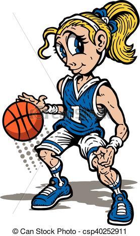 278x470 Girls Basketball Clip Art Cute Girl Basketball Player Mascot