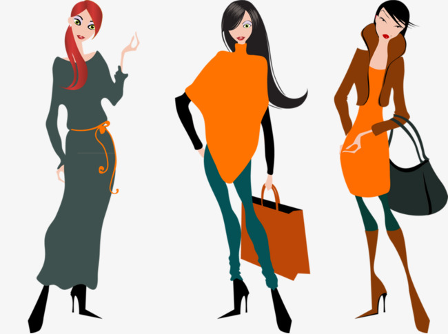 650x485 Hand painted Cartoon Fashion Girl, Good Body Shape, Model, Cartoon