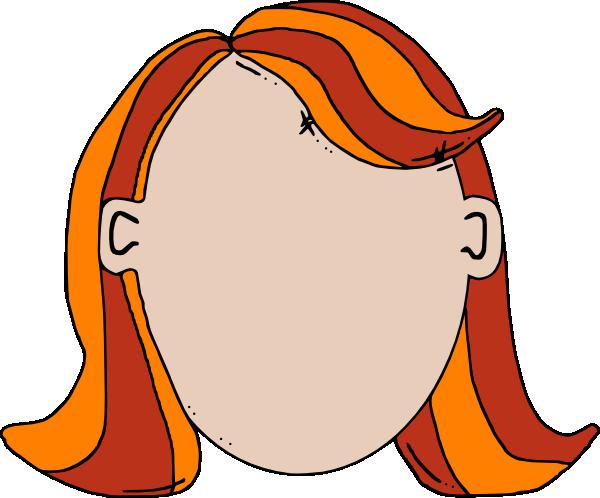 600x498 Blank Face Teen Girl Cartoon Clip Art