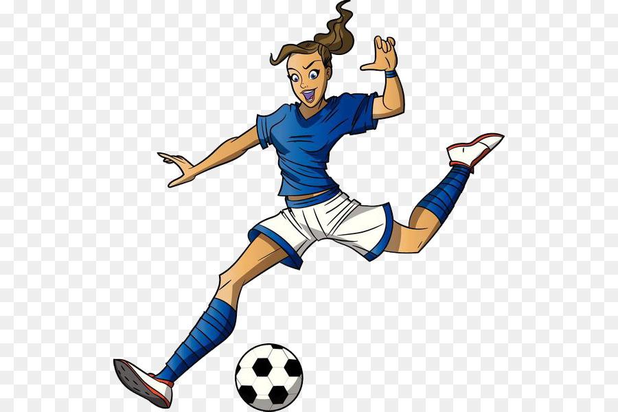 900x600 Football Player Cartoon Girl Clip Art