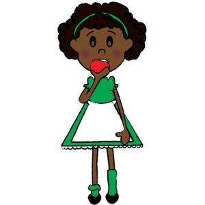 300x300 Little Girl Cartoon Clipart Image