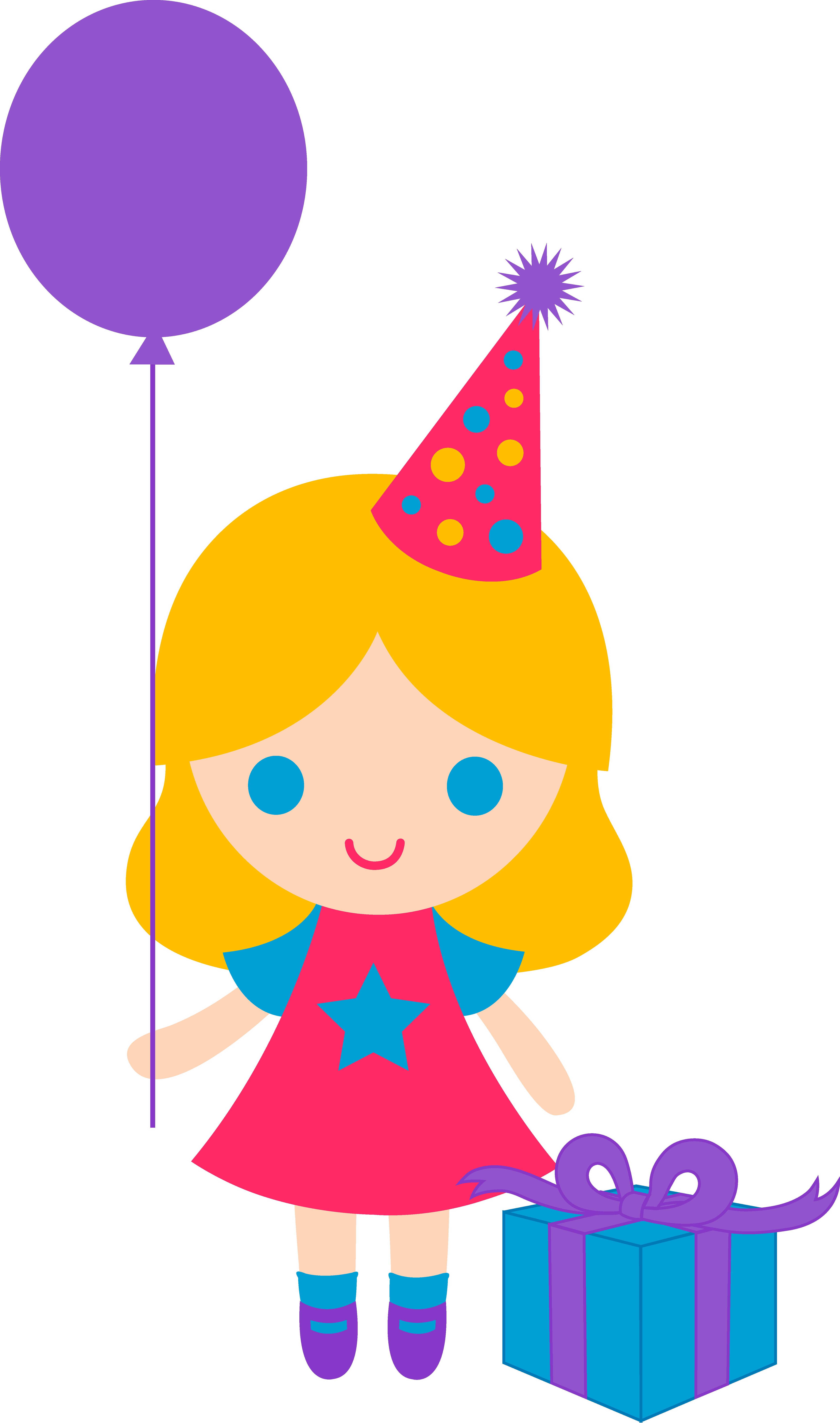 4986x8442 Birthday Girl Clipart