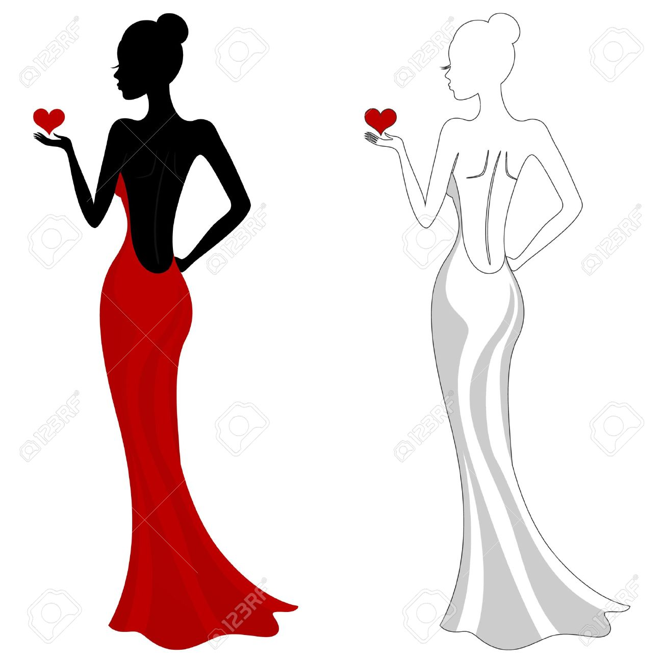 1300x1300 Ladies without dress clipart