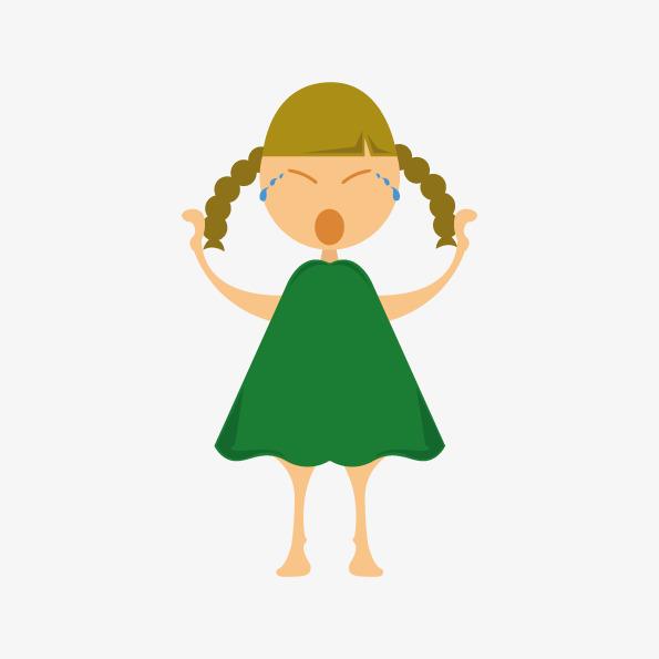 595x595 Cartoon Girl Crying Sad Element Free Download, Cartoon, Maiden