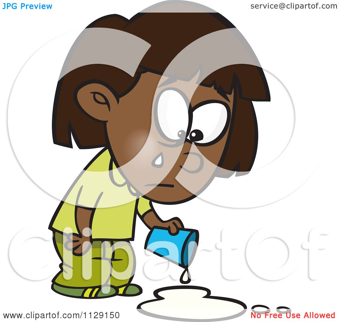 1080x1024 Cartoon Of A Black Girl Crying Over Spilled Milk