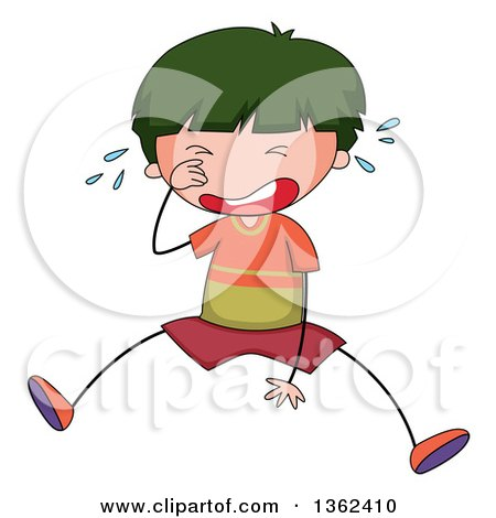 450x470 Cartoon Of A Girl Crying By A Door 1