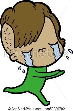 312x470 Cartoon Crying Girl Eps Vectors
