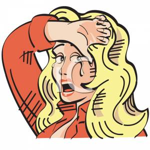 300x300 An Emotional Crying Blond Woman