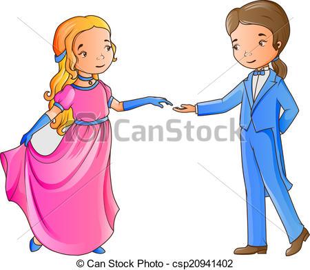 450x392 Cartoon Boy And Girl Dancing Vector Clipart