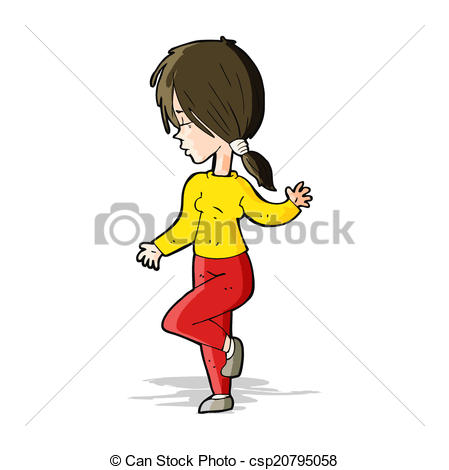 449x470 Cartoon Girl Dancing Clipart Vector