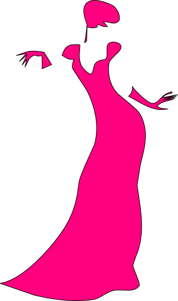 354x597 Dancing Lady Clipart