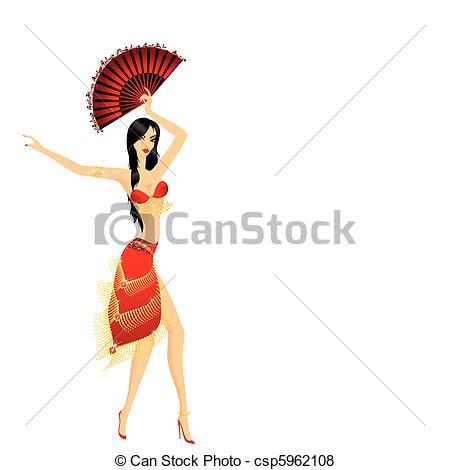 450x470 The Beautiful Young Girl Dances East Dance Vector