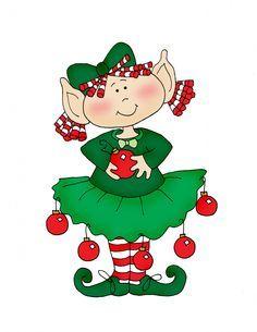 Girl Elf Clipart