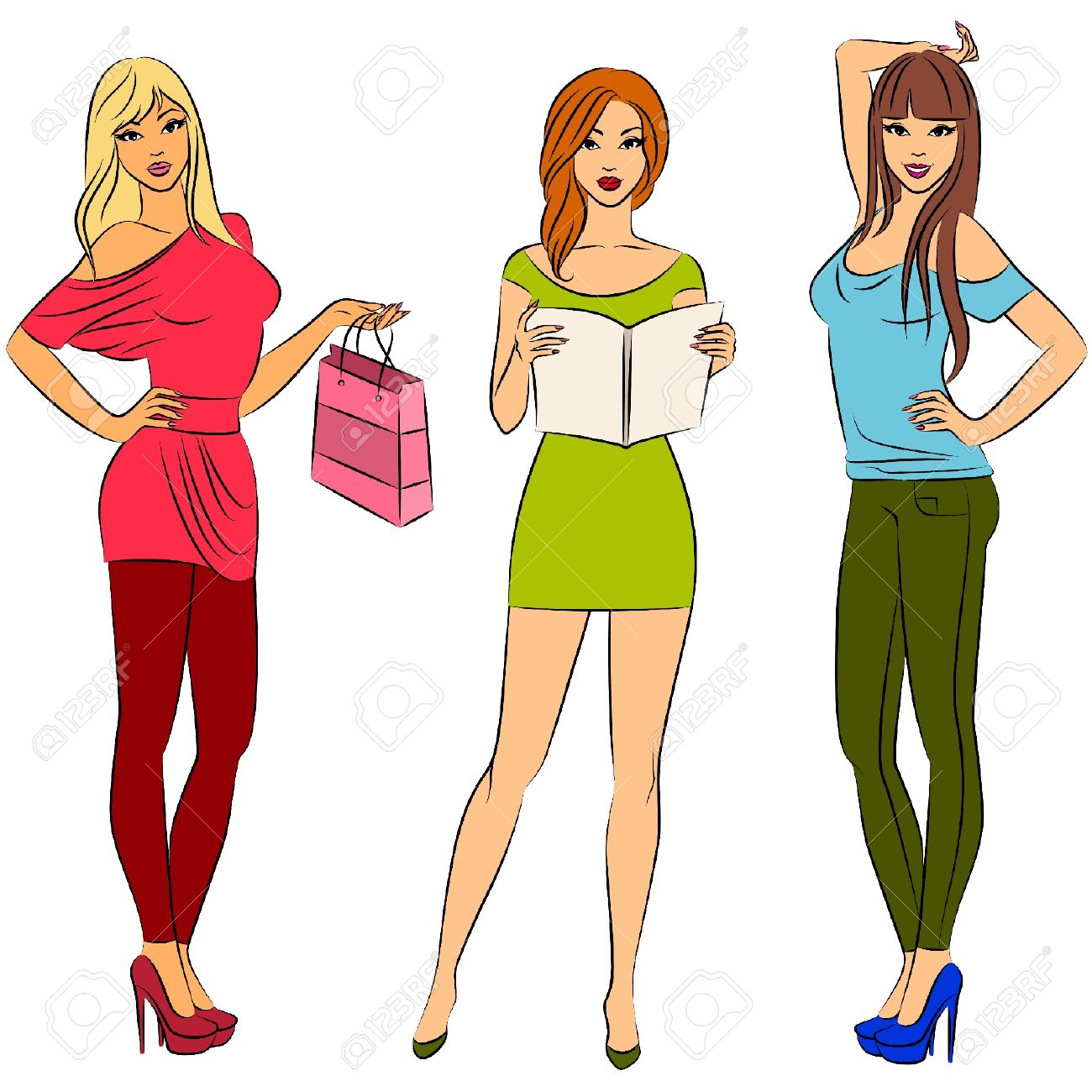 1300x1300 Model Clipart Fashion Shopping Free Collection Download