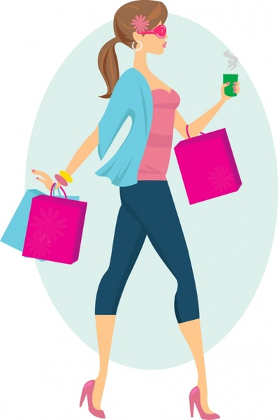 398x600 Shopping Clipart Fashion Shopping Girls Clip Art Free Vector