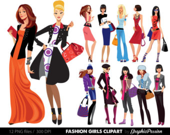 340x270 Cartoon Girl Clipart Kawaii Girls Clipart Fashion Girls Clipart