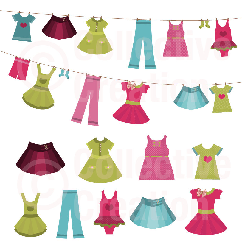 812x813 Clip Art Little Girl Fashion Clipart