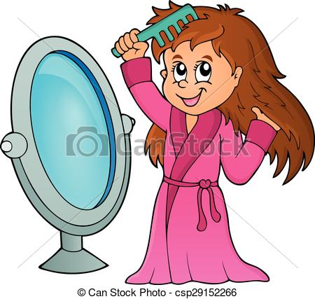 450x427 Girl Combing Hair Theme 1