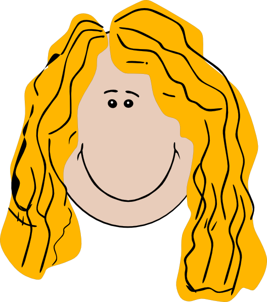 528x597 Long Hair Girl Clip Art