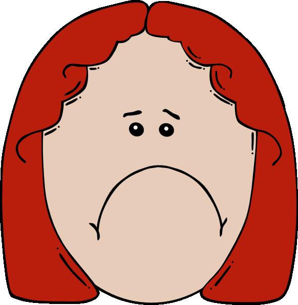 582x597 Sad Girl Red Hair Clip Art Clipart Panda