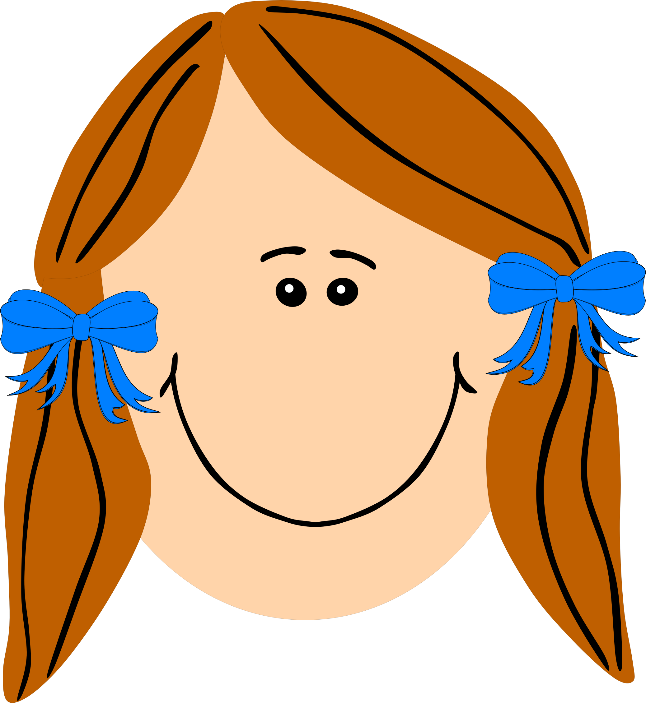 2076x2261 Ginger Girl With Long Hair Icons Png