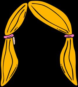 267x299 Blond Girl Hair Clip Art