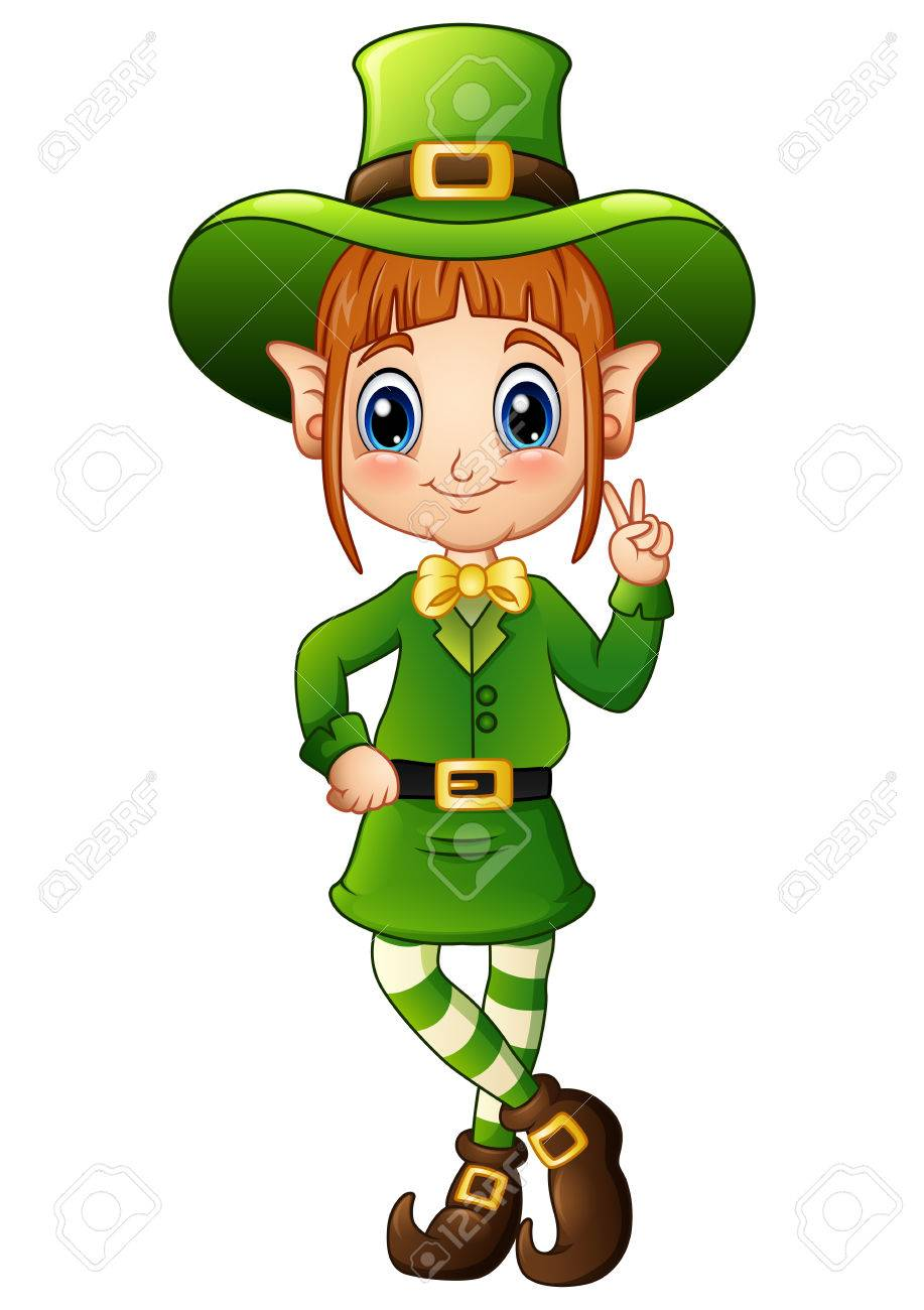 917x1300 Collection Of Girl Leprechaun Clipart High Quality, Free