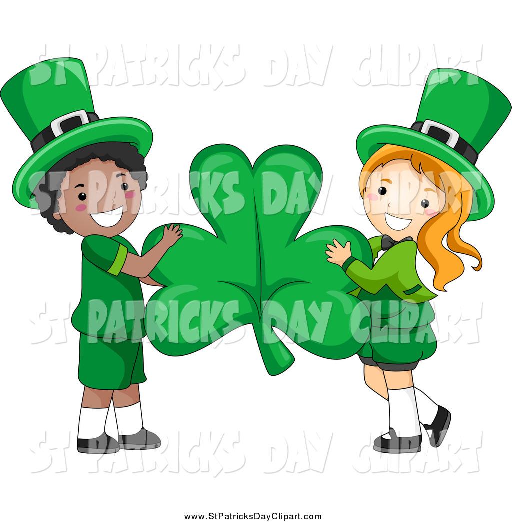 1024x1044 Clip Art Of A Cute St Patricks Day Leprechaun Boy And Girl Holding