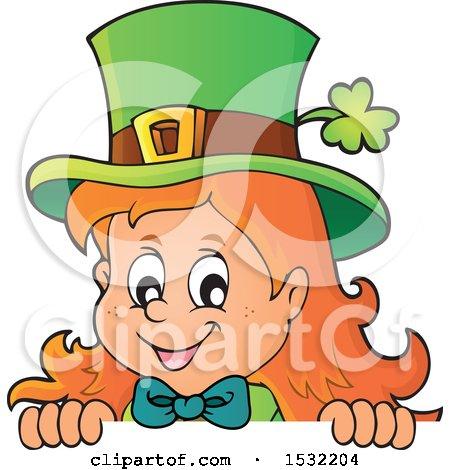 450x470 Clipart Of Border Of St Patricks Day Female Leprechaun