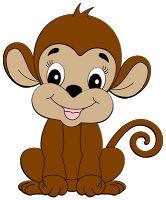 Girl Monkey Clipart