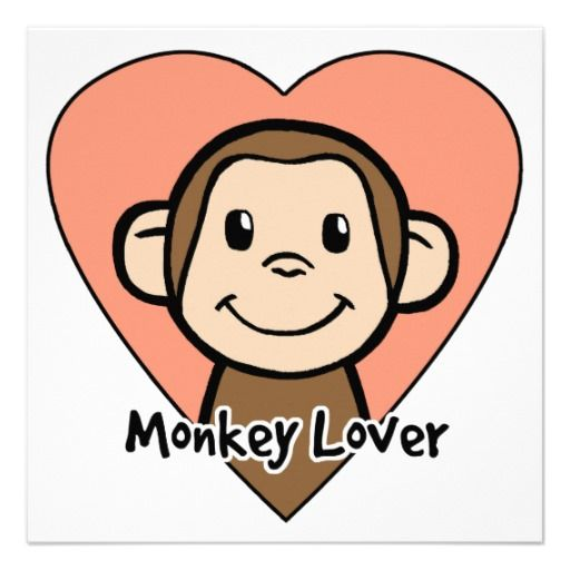 512x512 Cute Cartoon Clip Art Smile Monkey Love In Heart Monkey, Clip