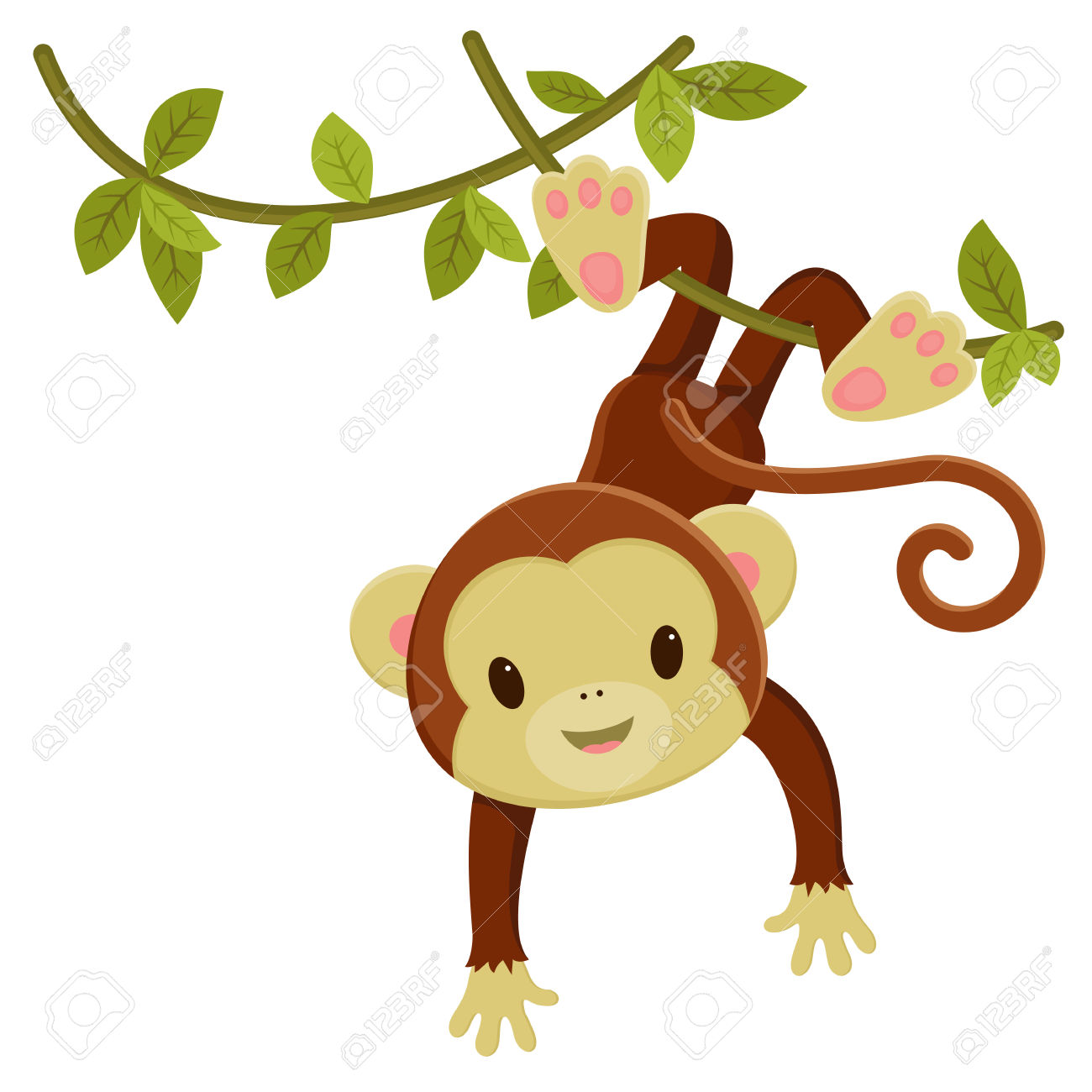 1300x1300 Girl Monkey Cartoon