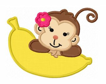 340x270 Little Girl Monkey Clip Art Girl Monkey With Banana Clipart