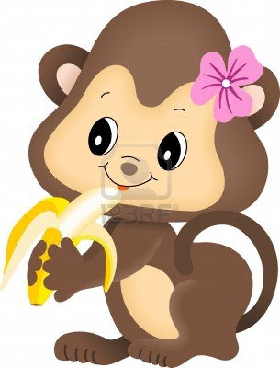 915x1200 Mod Monkey Girl Clipart