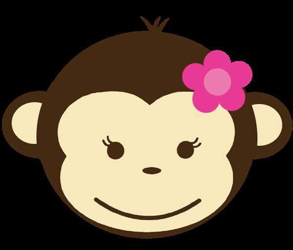 600x512 Girl Monkey Clip Art Babyface 128 Birthday Invitations