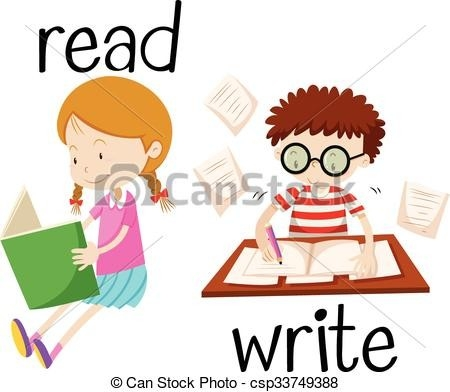 450x392 Kids Reading And Writing Clipart Bangalow Craft Ideas