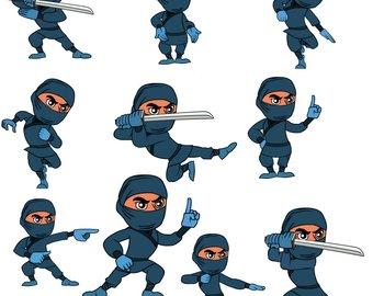 340x270 On Sale Ninja Cute Digital Clipart Commercial Use Ok Ninja