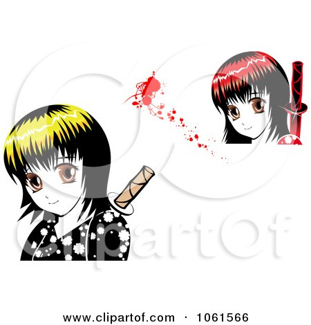 450x470 Royalty Free (Rf) Clipart Of Manga Girls, Illustrations, Vector