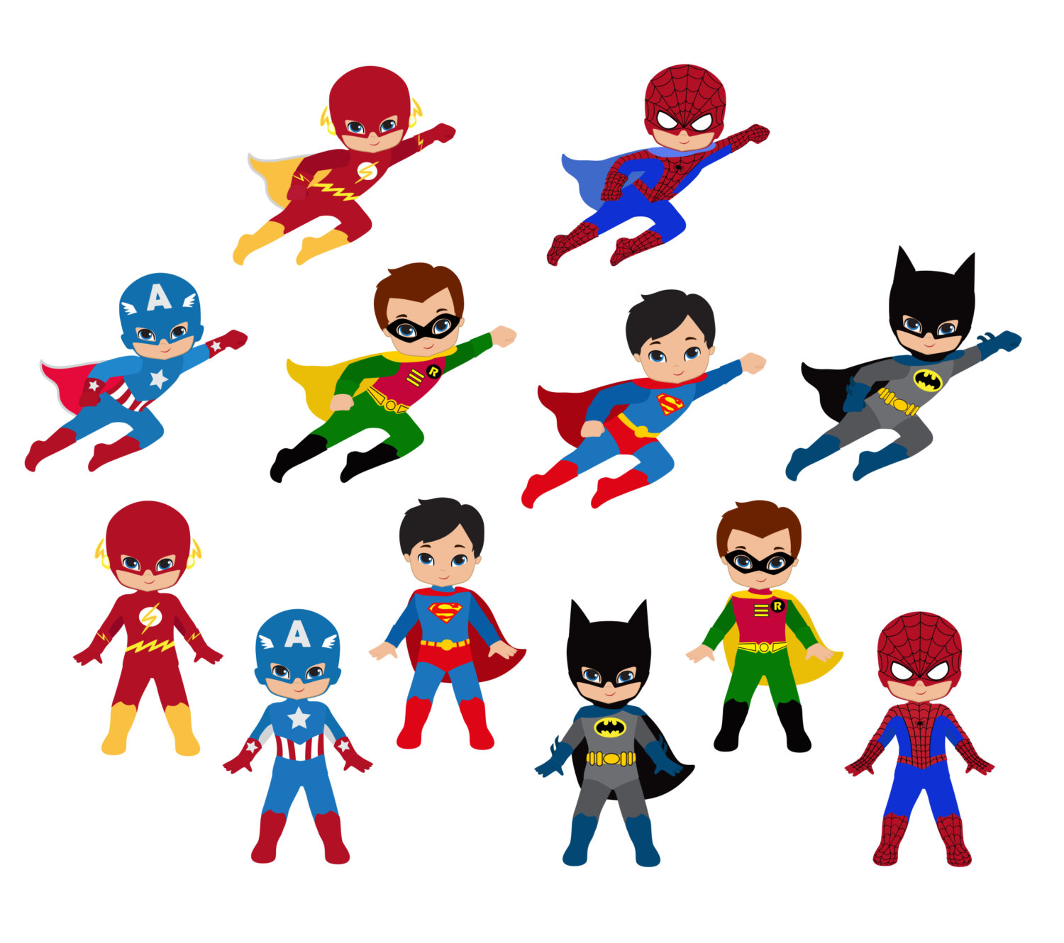1500x1330 Teenage Superhero Clipart Collection