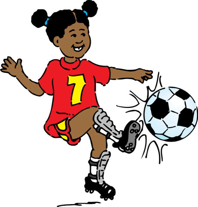 670x700 Girl Soccer Player Clipart Clipart Panda