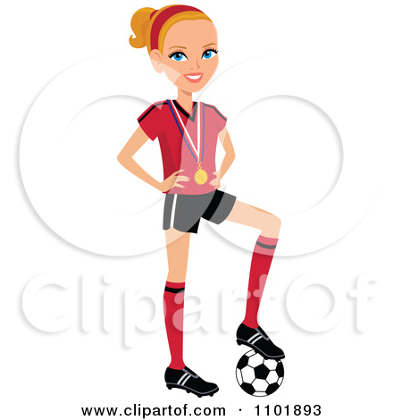 450x470 Girl Soccer Player Clipart